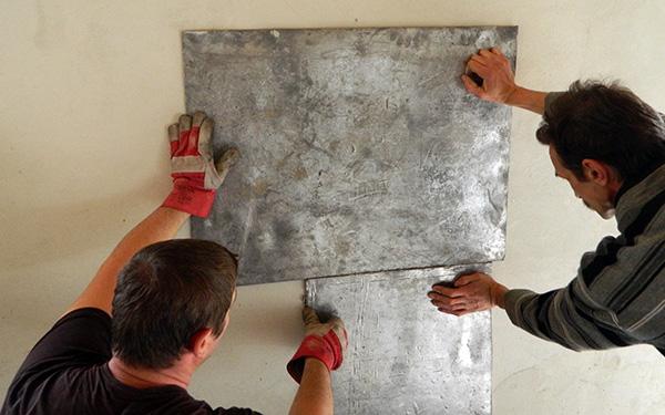 Placare tabla plumb